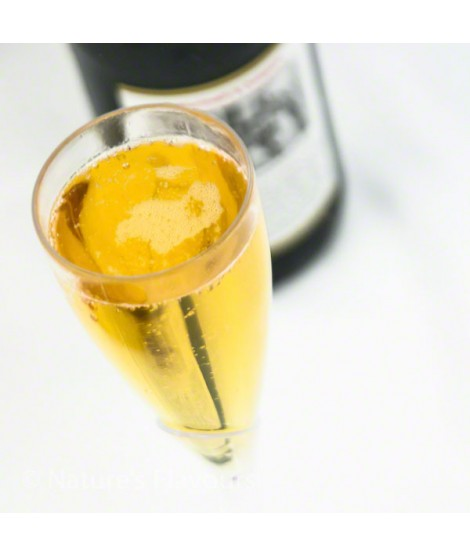 Champagne Flavor Emulsion for High Heat Applications