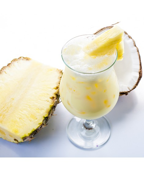 Pina Colada Organic Flavor Emulsion for High Heat Applications