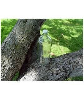 Glass Vinegar Bottle with White Metal Plastisol Liner Cap
