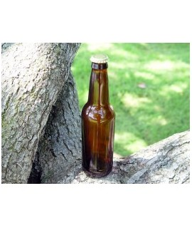 Long Neck Amber Glass Bottle