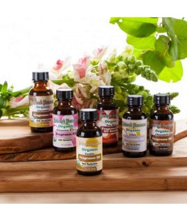 Sample Pack of Organic Fragrance Oils (Oil Soluble)