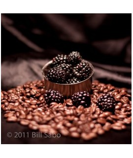 Organic Blackberry Flavored Coffee Beans (Shade Grown, Micro Roasted)
