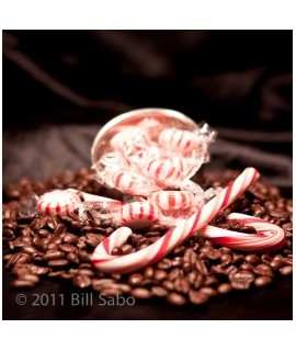 Organic Decaf Peppermint Flavored Coffee Beans (Shade Grown)