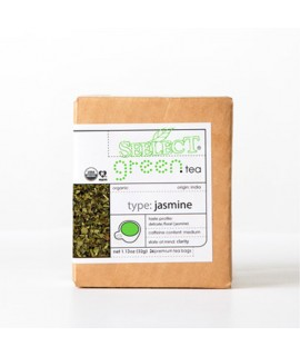 Jasmine Green Tea (Estate Grown, 24 Premium Tea Bags)