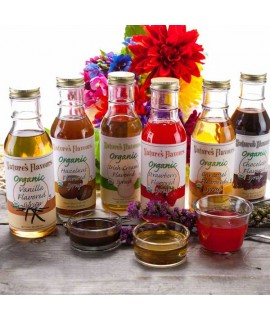 Natures Flavours Sample Pack of Organic Syrups