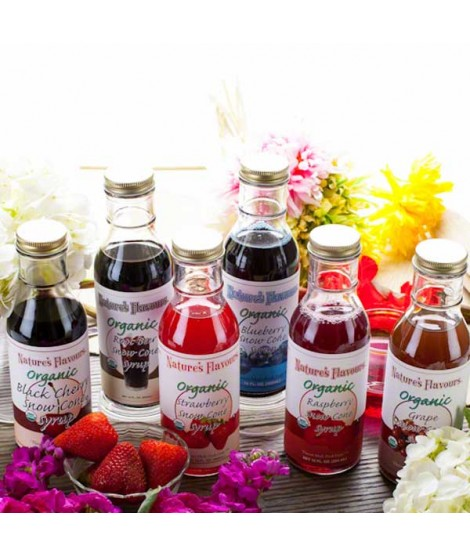 Newport Flavors Sample Pack of Organic Snow Cone Syrups 1 Pack